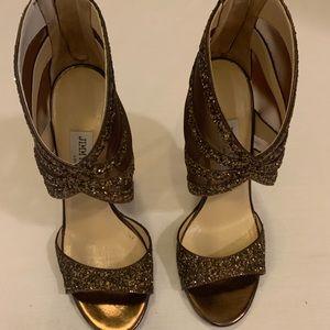 Jimmy choo brown sparkly heels